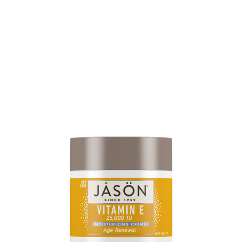 Jason Age Renewal Vitamin E Cream 25000iu rescues dull, dehydrated and weary skin to help restore elasticity and skin resilience