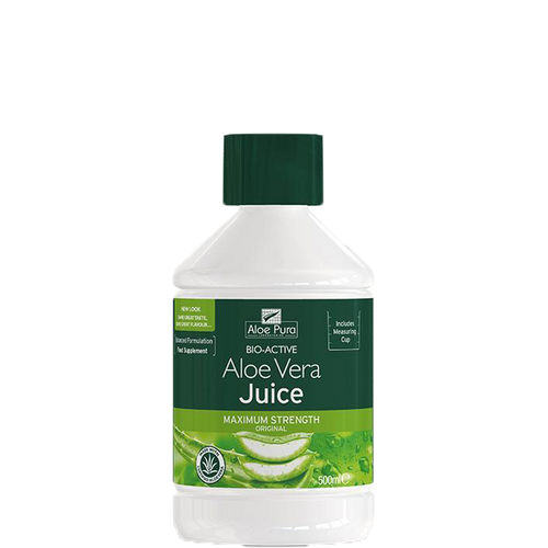 Aloe Pura 100% Natural Organic Aloe Vera Juice calms the digestive system, eases constipation & cleanses the whole body