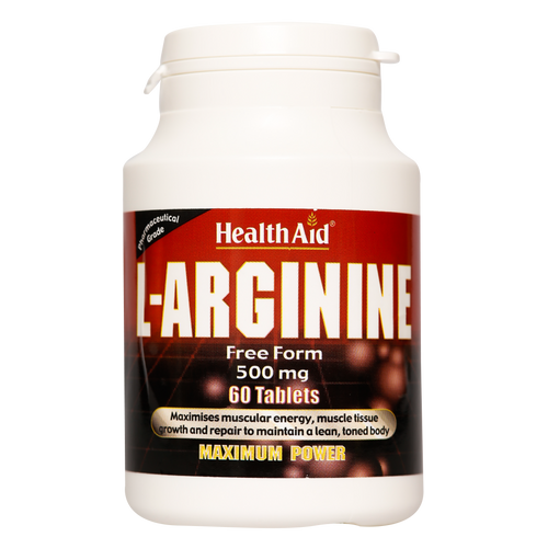 HealthAid L-Arginine Tablets help in wound healing, stimulates immune function and promotes secretion of several hormones.