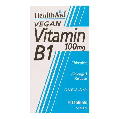 HealthAid Vitamin B1 Tablets, also known as Thiamin t helps break down sugars, carbohydrates and fats in the body to provide energy.