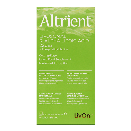 Altrient R-ALA, Liposomal R-Alpha Lipoic Acid, uses the more bioavailable, stable and potent form of alpha lipoic acid called R-Alpha Lipoic Acid, an antioxidant known to enhance cellular energy.
