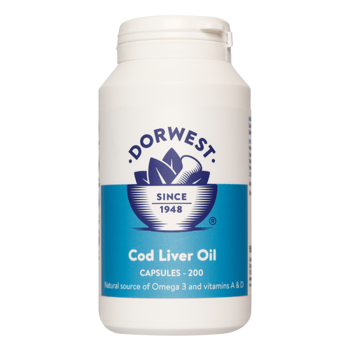 Dorwest Cod Liver Oil capsules keep your dog's joints healthy & mobile