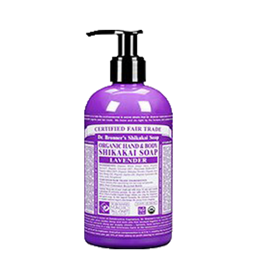 Dr Bronner's Organic Shikakai Lavender Soap is a 4 in 1 soap to wash hands, face, body and hair & kind to the planet