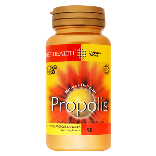 Bee Health Propolis capsules display potent antifungal, antimicrobial & antioxidant properties to help boost the immune system.