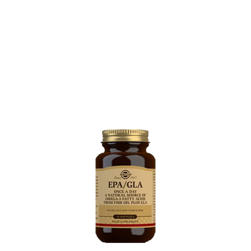 Solgar's One a Day EPA/GLA provides a trio of essential fatty acids taken as a one-a-day softgel capsule