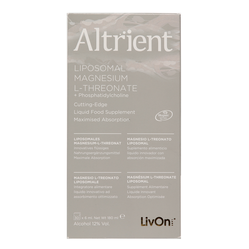 Altrient Magnesium Magtein ® is a liposomal liquid Magnesium L-Threonate supplement which improves memory, enhances the quality of sleep, reduces tiredness and supports healthy magnesium levels.