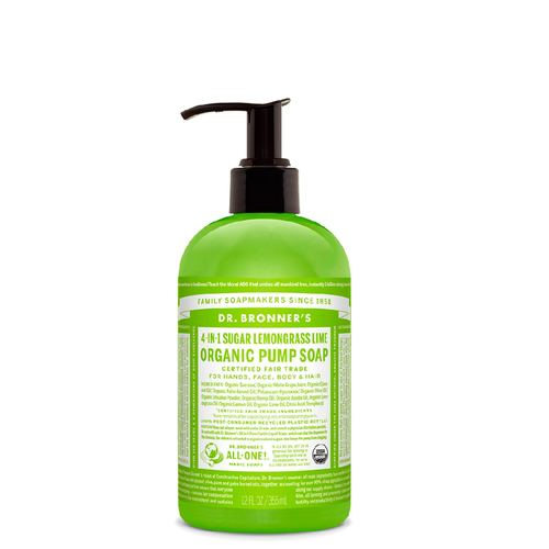 Dr Bronner's Organic Shikakai Lemongrass Soap is a 4 in 1 soap to wash hands, face, body and hair & kind to the planet