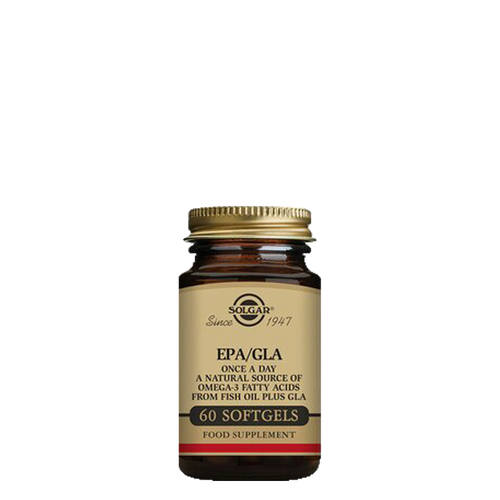 Solgar's One a Day EPA/GLA 60 softgels provides a trio of essential fatty acids taken as a one-a-day softgel capsule