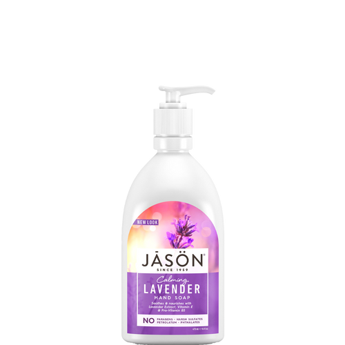 Jason Calming Lavender Hand Soap gently cleanses and safely nourishes your skin with Vitamin E and Pro Vitamin B5.