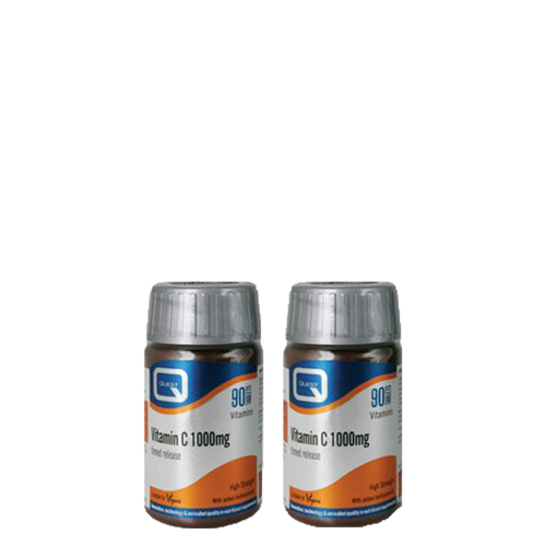 Quest Vitamin C 1000mg Timed Release Special Offer Pack contains 2 x 90 Tablets of Vitamin C 1000mg at a special price