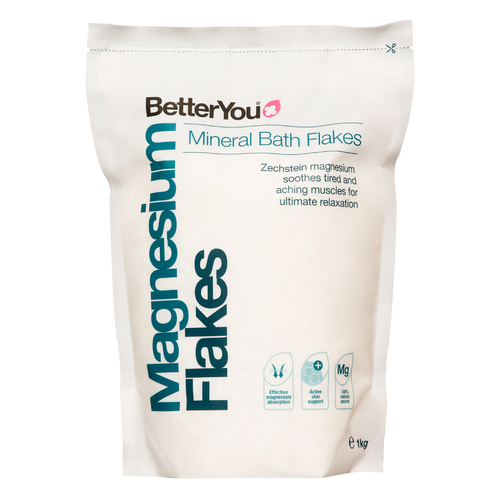 Better you Magnesium Oil Original Flakes helpsrelieve stress, promotebetter sleep andeaseachy muscles and joints.