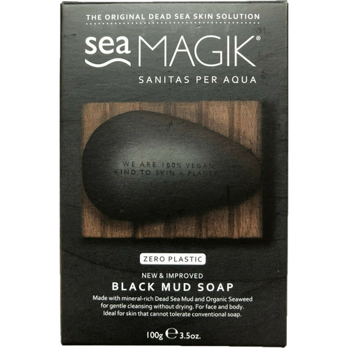 Dead Sea Spa Magik Black Mud Soap is specifically formulated for problem skins that can't tolerate conventional soaps