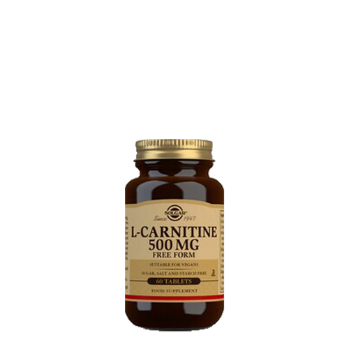 Solgar L-Carnitine 500mg 60 Tablets convert fat into energy, may benefit weight loss & maintain healthy cholesterol levels