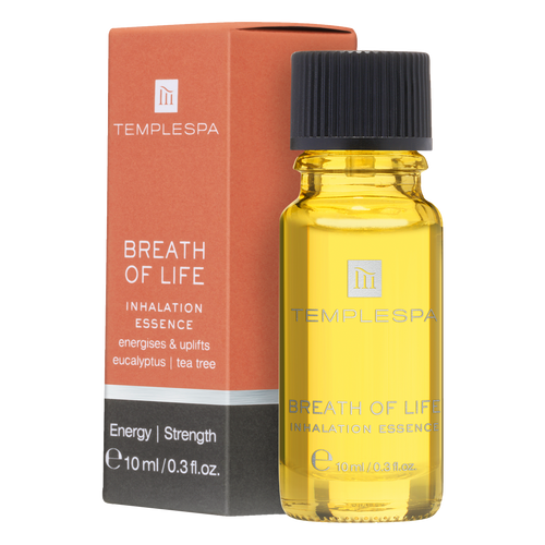 ; Breath Of Life Aromatherapy Inhalation Essence brings antibacterial and anti-viral benefits to help ward off germs and ease breathing – especially when you're suffering from a cold or the flu.