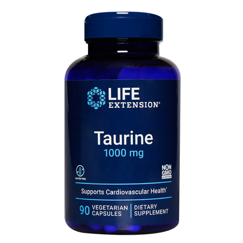 Life Extension Taurine supports a healthy heart and brain, muscle mass and exercise performance.