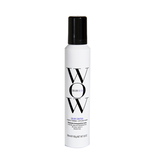 Color Wow Styling Mousse with polymers helps control brassiness whilst providing soft blonde tones.