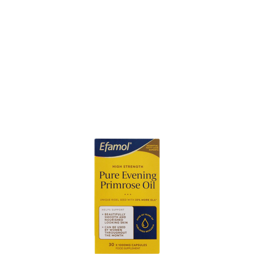Efamol High Strength Evening Primrose Oil capsules help support beautifully nourished skin