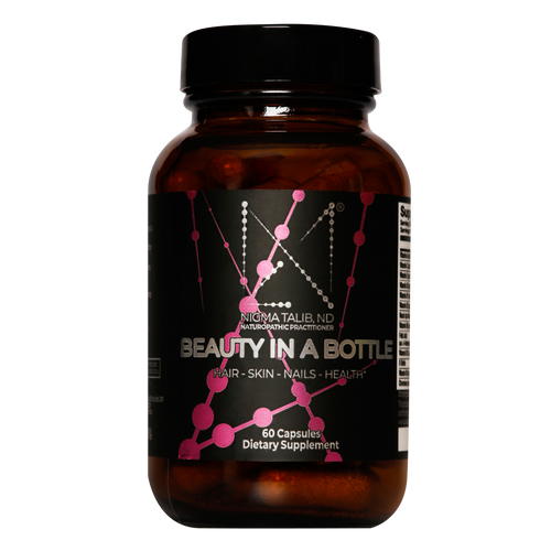 Dr Nigma Beauty In A Bottle supplement boosts your hair, skin, and nails
