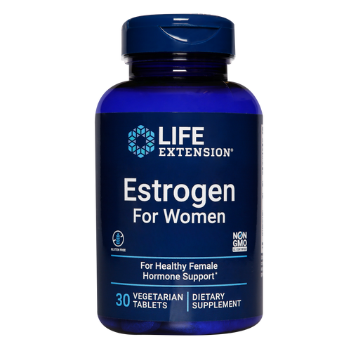Life Extension Estrogen for Women, formerly Natural Estrogen,helps to alleviate common menopausal concerns including hot flushes, night sweats. mood swings and anxiety.