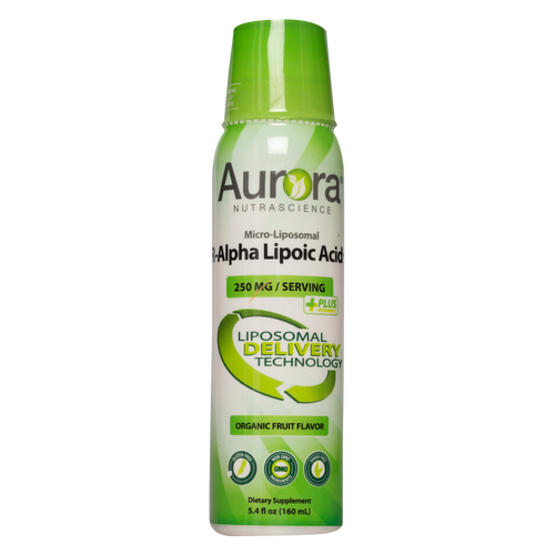 Aurora Nutrascience Micro-Liposomal R-Alpha Lipoic Acid provides R-Alpha Lipoic Acid encapsulated in a lipospheres which protects this important nutrient from stomach acid.
