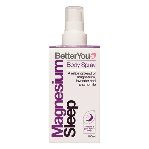 Better You Magnesium Oil Goodnight Spray is a unique combination of magnesium oil and an essential oil blend to help promote deep muscle relaxation, aleviate restless legs syndrome, promote a sense of wellbeing and enhance peaceful sleep.