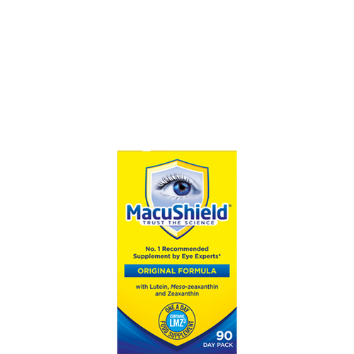 Macushield Original capsules contain lutein & antioxidants from marigolds to help protect the eyes