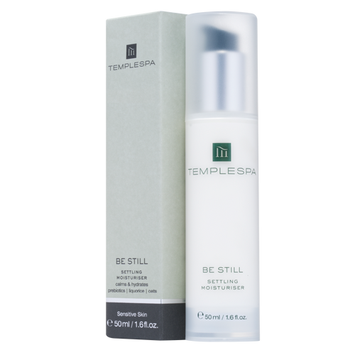 Temple Spa Be Still Settling Moisturiser is a calming daily face cream suitable for sensitive skin that soothes irritated skin