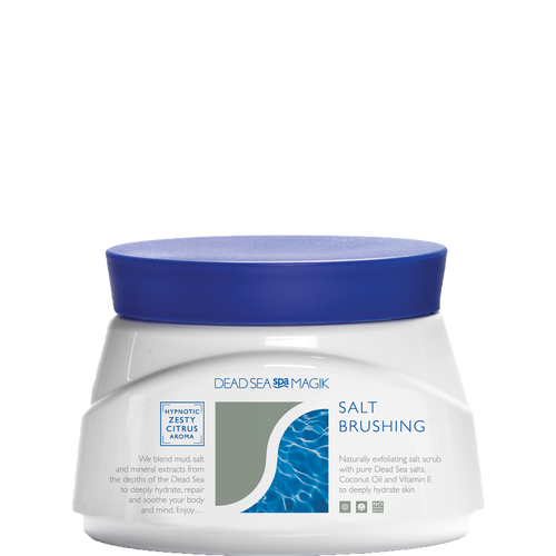 Dead Sea Spa Magik Salt Brushing is a blend of pure Dead Sea salts, Coconut Oil and Vitamin E to deeply hydrate skin
