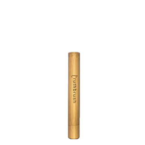 Truthbrush Bamboo Toothbrush Travel Case is made from beautiful polished bamboo