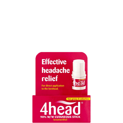 4head stick contains levomenthol to help block pain signals caused by tension headaches
