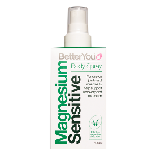 Better You Magnesium Oil Sensitive Spray delivers pure magnesium oil from the skin into the bloodstream and is suitable for even the most sensitive skin.
