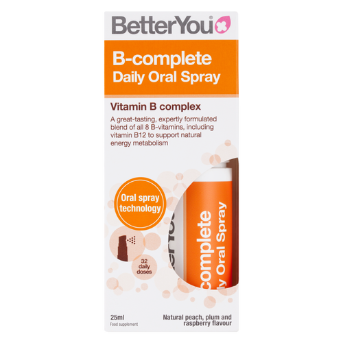 BetterYou B-complete Daily Oral Spray is an easy to take and highly effective vitamin B complex supplement.