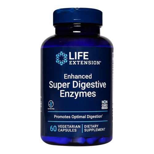 Life Extension Enhanced Super Digestive Enzymes work to break down food to extract nutrients, prevent bloating and  prevent constipation