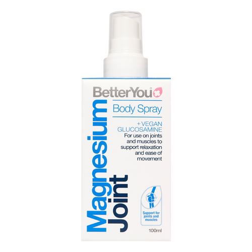 Better You Magnesium Oil Joint Spray is ideal for direct application to joints to help alleviate arthritis symptoms including inflamed and painful joints, knees and muscles.