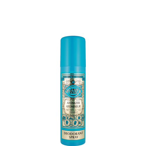 The classic 4711 natural deodorant spray will leave your skin feeling fresh