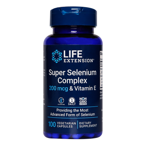 Life Extension Super Selenium Complex: As an essential co-factor of glutathione peroxidase, selenium is an important antioxidant