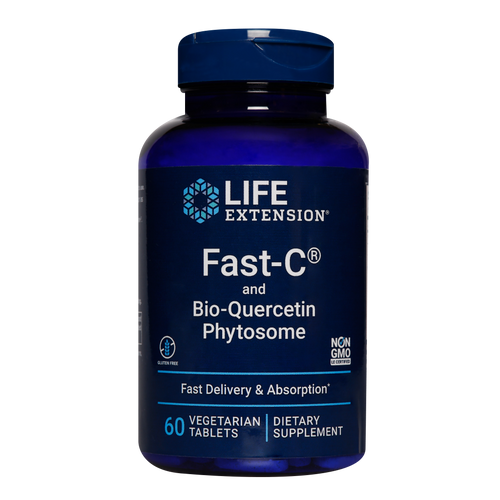Life Extension FAST-C®and Bio-Quercetin Phytosome provides vitamin C in a fast delivery system with rapid absorption.