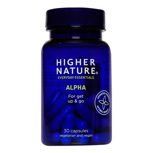 Higher Nature Alpha capsules contain two powerful regenerating antioxidants to protect the whole body.
