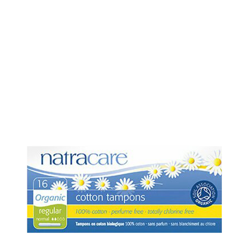 Natracare Organic Regular Applicator Tampons with a smooth easy-glide cardboard applicator, which is completely biodegradable