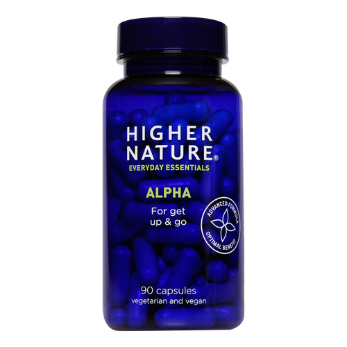 Higher Nature Alpha contains alpha lipoic acid & acetyl l-carnitine to hold back the years