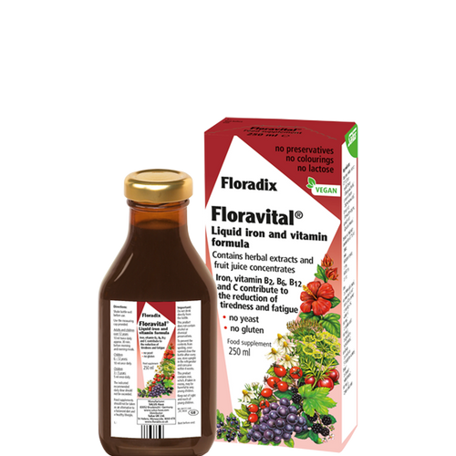 Floradix Floravital Liquid Iron and Vitamins Yeast Free
