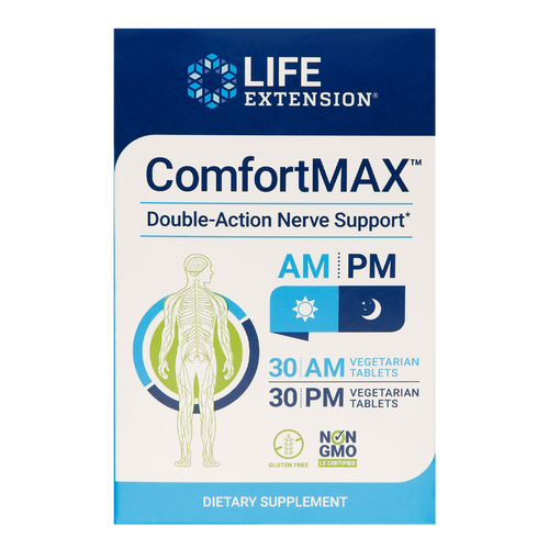 ComfortMAX calms the nerves  to help alleviate discomfort in joints & muscles