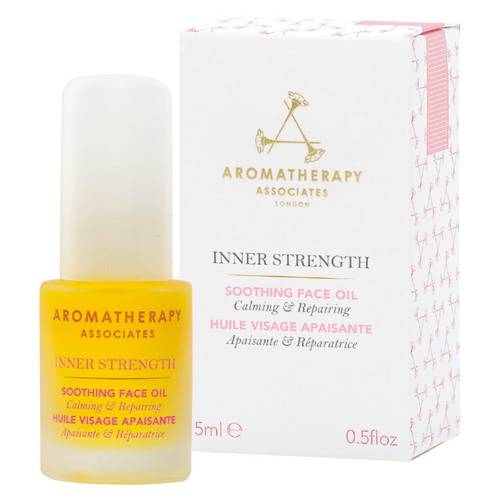 Nourish and revive dry, irritated skin with this Chamomile and Evening Primrose Soothing Face Oil from Aromatherapy Associates.