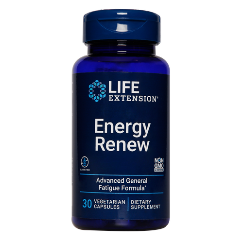 Life Extension Energy Renew enhances & maintains  energy levels which is ideal for those suffering from chronic fatigue