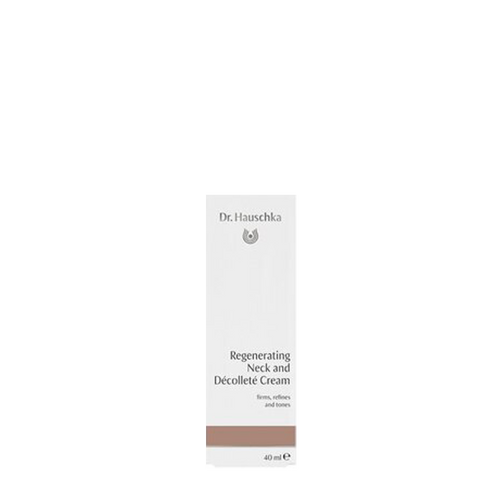 Dr Hauschka Regenerating Neck and Decollete Cream firms the skin of the neck and décolleté, diminishing lines and wrinkles caused by dryness