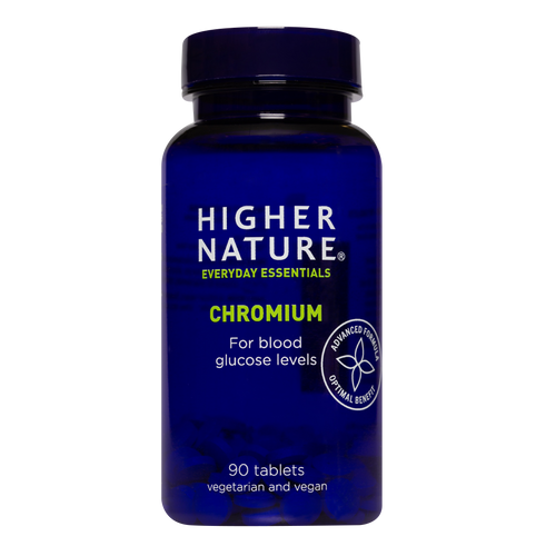 Higher Nature GTF Chromium helps support normal glucose metabolism which means blood sugar levels stay balanced, and energy levels are sustained