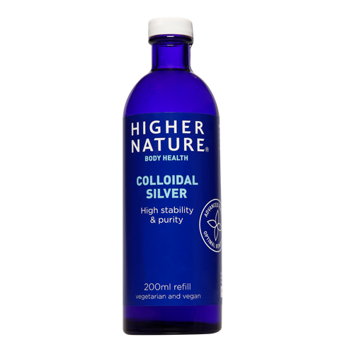 Use Higher Nature Colloidal Silver 200ml bottle to refill 15ml & 100ml sprays used to disinfect surfaces.