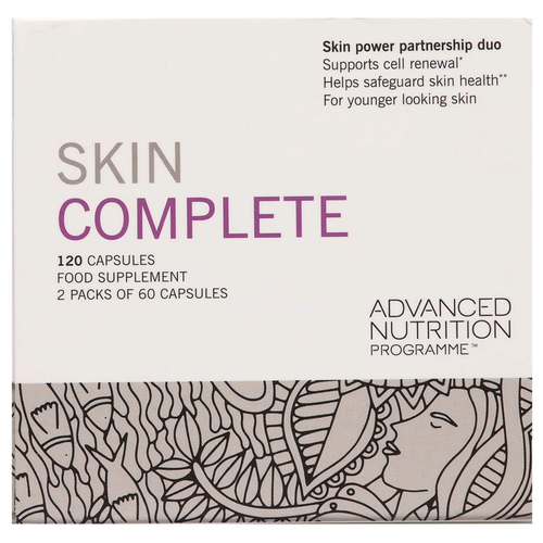 Advanced Nutrition Programme Skin Complete helps safeguard skin health, supports cell renewal, for younger looking skin.