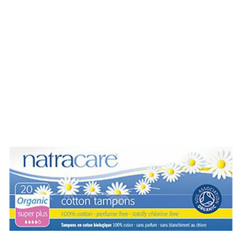 Natracare Organic Super Plus Tampons are made with 100% organic non-bleached cotton to offer soft, comfortable protection.