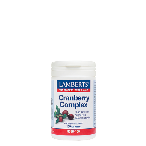 Lamberts® Cranberry Complex Powder, 100gr, is a high potency sugar-free cranberry powder concentrate which may help prevent bladder infections